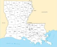 Louisiana - When we were in 8th grade, we had to learn the names and locations of all 72 parishes!!!