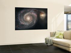 The Whirlpool Galaxy (M51) and Companion Galaxy Print at AllPosters.com