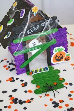 20 super easy halloween crafts for kids to make da de muertos diy popsicle stick haunted house solutioingenieria Choice Image