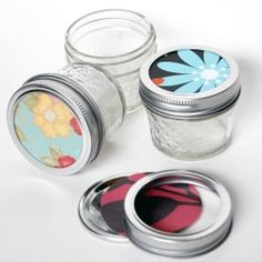 Decorate your mason jars to act as reusable gift wrap and more!  Spring has sprung!