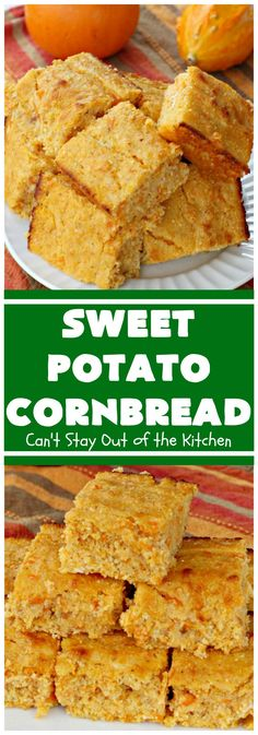Sweet Potato Cornbread - Can't Stay Out of the Kitchen Sweet Potato Cornbread, Moist Cornbread, Honey Cornbread, Cornbread Recipes, Canned Sweet Potato Recipes, Recipe Using Honey, B Recipe, Glass Baking Dish, Pie Cake