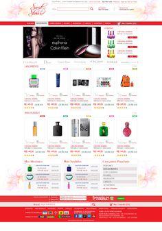 Criação de Interface com usabilidade para página virtual no ano de 2013 para o E-commerce Scent Store.