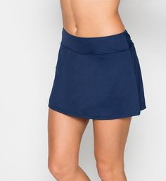 Beach House Bathing Suits Women's Swimwear Skort Pant. Color admiral skirt with built in shorts under. Mix and match swim suits. This swimwear bottom is a sporty looking skirt with built in shorts under. It is mid rise and perfect for someone wanting a little more coverage. Each piece is sold separately. Style # H42371. Beach House Bathing Suits Women's Swimwear Skort Pant.