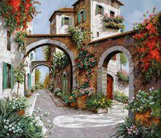 Tre Archi  / Guido Borelli Painting oil Canavas