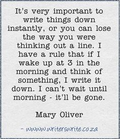 Mary Oliver Quote from Writers Write