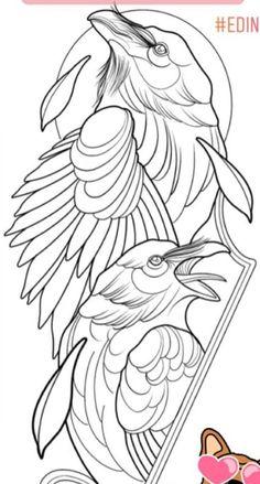 Asetelma, taustalla kehystävä pallo Ozzy Tattoo, Neo Tattoo, Raven Tattoo, Tattoo Drawings, Blackwork, Corvo Tattoo, Crow Totem, Frog Tattoos, Black Bird Tattoo