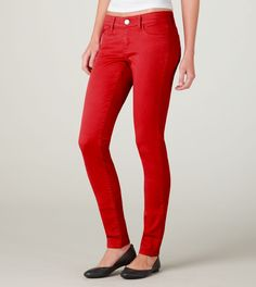 Yes to Red Jeggings! Can I pull it off?? >.