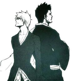 Kurosaki Ichigo et Kurosaki Isshin - Bleach Rukia Bleach, Ichigo X Rukia, Bleach Manga, Anime Fr, Anime Guys, Shinigami, Bleach Tattoo, Renji Abarai, Bleach Characters