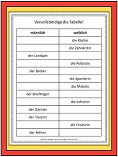 Perfekt - Un- und Regelmässige Verben - Blatt 1 | german ...