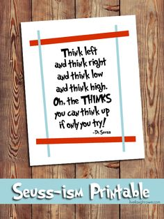 {free} Dr. Seuss Prinatable | On Going Places with livelaughrowe.com