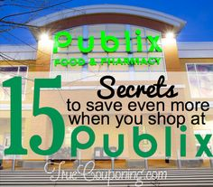 Think you are a savvy Publix shopper? Look here for a few extra tips and tricks we think everyone can learn in order to save EVEN MORE when you shop at Publix. Publix Deals, Publix Coupons, Shopping Coupons, Shopping Hacks, Mo Money, Money Tips, Money Saving Tips, Couponing 101, Extreme Couponing