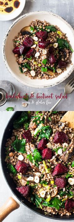 This warm #buckwheat and #beetroot #salad makes an ideal #winter meal. It's #easy #filling and will help you stick to your new years' #resolutions . #vegan and #glutenfree #recipe #recipes #vegetarian #dinner #lunch #entree #simple