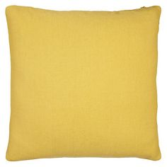 Buy John Lewis Linen Cushion Online at johnlewis.com yellow and grey