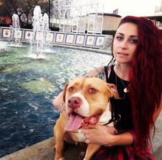 Mariah of Villalobos Rescue Center and Animal Planet's Pitbulls and Parolees and her dog,Tater!❤️