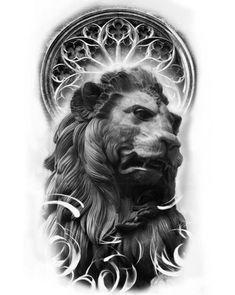 26 trendy tattoo lion of judah Zeus Tattoo, Statue Tattoo, Lion Tattoo, Chest Tattoo, Arm Tattoo, Sleeve Tattoos, Black Art Tattoo, Black And Grey Tattoos, Tattoo Studio