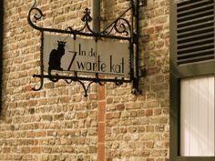 Cat Sign in Brugges, Belgium