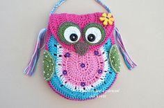 PATTERN  Owl handbag  crochet pattern  handbag von CrochetfromYvett