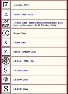 Gl Maker Mark Identification In All Its Glory 2018 Antique Glass Bottles, Antique Glassware, Vintage Kitchenware, Vintage Bottles, Vintage Dishes, Bottles And Jars, Vintage Perfume, Perfume Bottles, Mason Jars