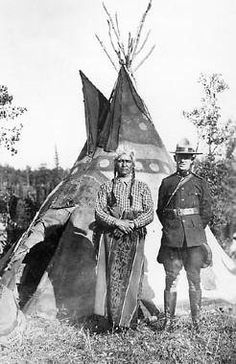 Spotted Eagle (Assiniboine), Constable Robert J. Threadkell, RCMP, 1921