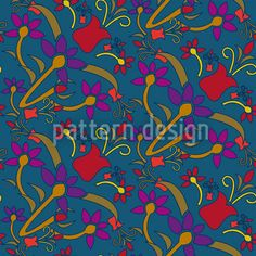 Fantasyflowers by Suman Sharma available for download on patterndesigns.com