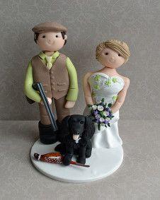 gamekeeper groom and his wife!!!