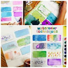 Watercolor Techniques - SNA Art Camp! www.mrsorange.com