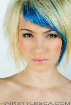 Have always wanted blue hair, have been pink, blonde black, purple ... Still want to try blue though and love this look
