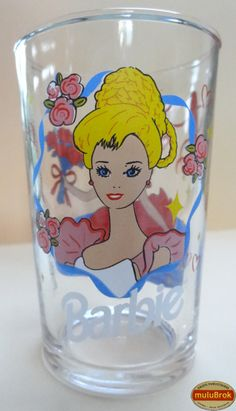 Verre Moutarde ... BARBIE (1995). Barbie, poupée mannequin, créée en 1959 par une américaine et commercialisée par la société Mattel.