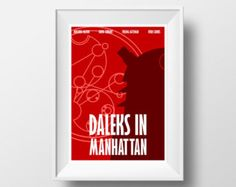 """Doctor Who Poster, """"Daleks in manhattan"""" Poster, David Tennant, Movie Poster"""