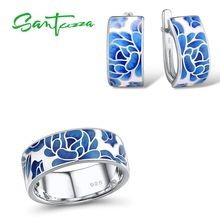 SANTUZZA Silver Jewelry Set for Women Pure 925 Sterling
