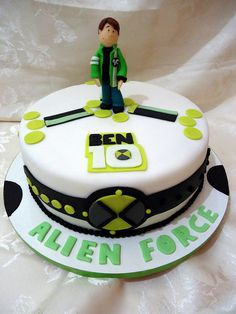 Ben 10 Cake-Charlie but make shoes of Ben bigger and maybe Ben down or face like Parkers Pete cake? Happy Birhtday Charlie in same font as the Alien Force