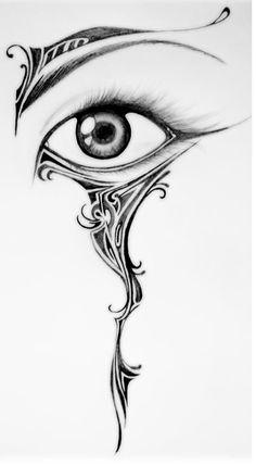 Eye Tattoo Photo by InsaneShelton Pencil Art Drawings, Art Drawings Sketches, Tattoo Sketches, Tattoo Drawings, Tribal Drawings, Tattoo Ink, Arm Tattoo, Bild Tattoos, Body Art Tattoos