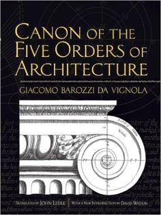 Canon of the Five Orders of Architecture (Dover Architecture): Giacomo Barozzi da Vignola, John Leeke, David Watkin: 9780486472621: Amazon.com: Books