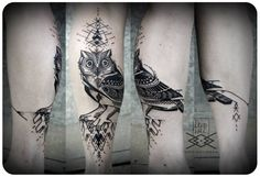 owl tattoo by David Hale & Kris Davidson