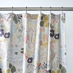 Woodland Meadow Shower Curtain | Inspired by a long meander through a woodland meadow, this whimsical print features the flora and fauna of the natural world as interpreted by Austin-based artist Leah Duncan | Schoolhouse Electric