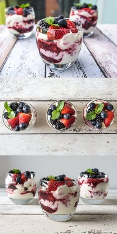 I dont even like yogurt but these look pretty! Yogurt Berry Parfait by dailygourmet: A little bit of cream goes a long way!