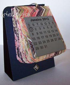 Calendário de mesa. ArteMagistra.com.br