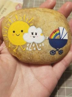 Rock Painting Patterns, Rock Painting Ideas Easy, Rock Painting Designs, Pebble Painting, Pebble Art, Stone Painting, Painted Rocks Craft, Hand Painted Rocks, Painted Stones