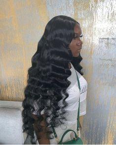 Baddie Hairstyles, My Hairstyle, Loose Hairstyles, Black Hairstyles, Frontal Hairstyles, Braided Hairstyles, Lace Front Wigs, Lace Wigs, Style Afro