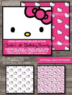 Hello Kitty Birthday Invitations Hello Kitty By LaBelleStudio, $10.00
