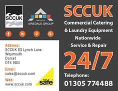 SCCUK provide service cover and maintenance for Catering equipment.  24 hours a day/ 7 days a week/ 365 days a year  We guarantee to get your business up and running again as swiftly as possible, ensuring that the down time of equipment is minimised.  If you would like to book an engineer, call our 24 hour rapid response service team on 01305 774488 (Opt 1).