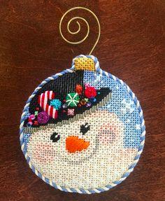 snowman needlepoint ornament                                                                                                                                                                                 More