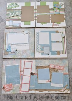 #CTMH Seaside Scrapbook Layouts