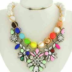 Statement Necklace 18 inches + Ext Jewelry Necklaces