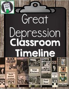quick and easy great depression simulation real life students  great depression classroom timeline ss5h3