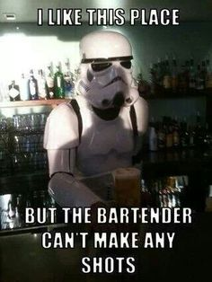 So true. Clone Troopers never make good shots. They always miss. Lolol
