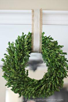 All Things Home Christmas Tour ~ ribbon over burlap ribbon