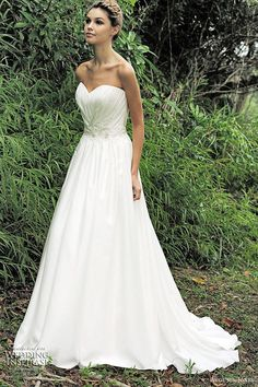 pleated bodice wedding dress