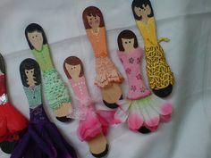Lollipop Stick dolls - Lolly Ladies by sonyao, via Flickr