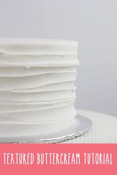 Learn how to create one of the classic buttercream cake textures that are so big right now! via @wrapitinsugar